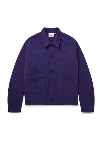Patch Pocket Milano Work Jacket in Purple