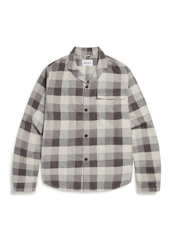 Miles Long Sleeve Shirt in Black Check