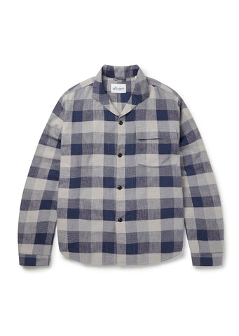 Miles Long Sleeve Shirt in Blue Check