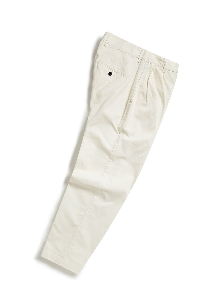 Pleat Trouser in Ecru