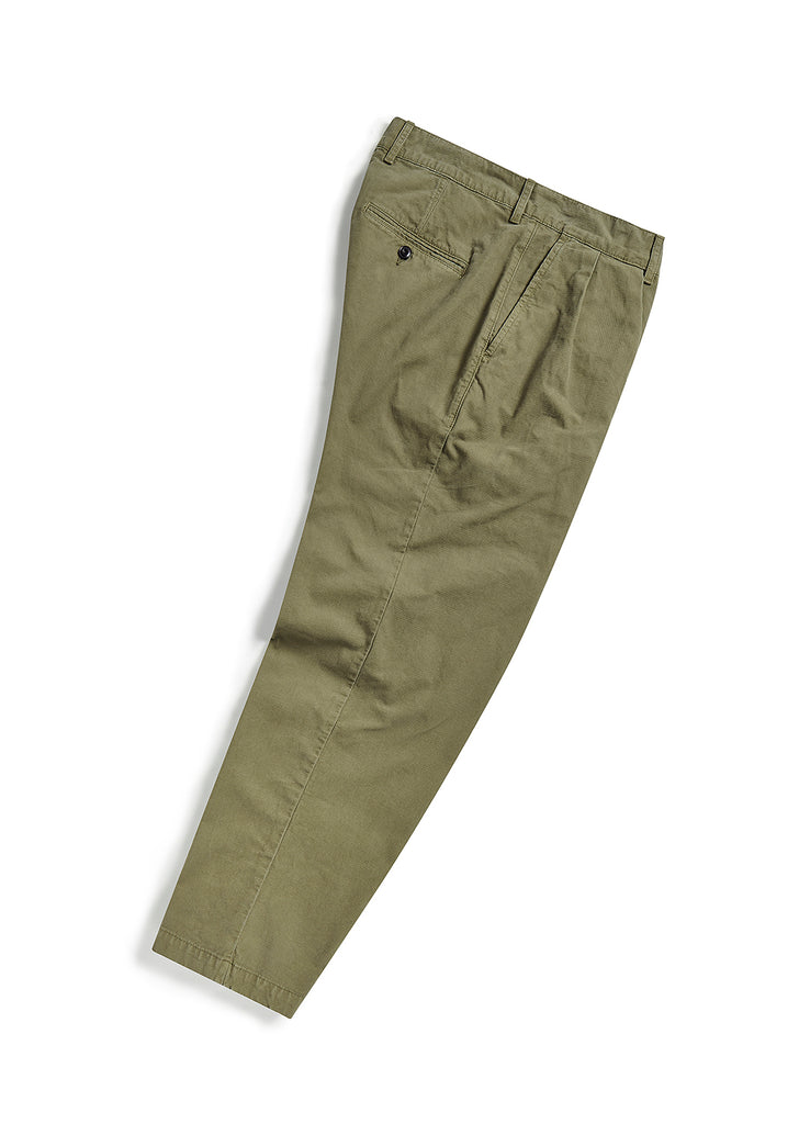 Pleat Trouser in Olive