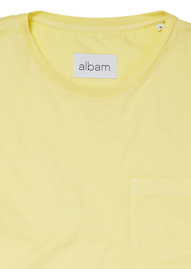 Pocket T-Shirt in Lemongrass