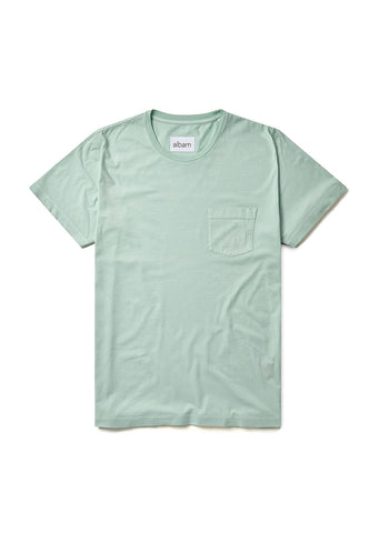 Pocket T-Shirt in Faded Jade