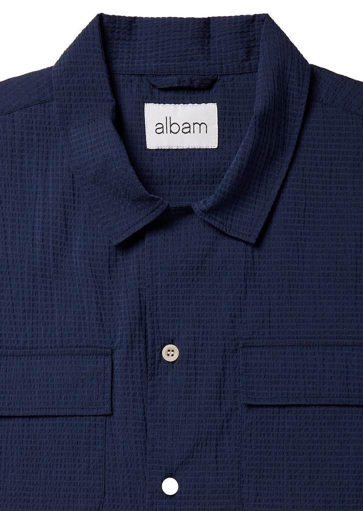 Revere Collar Workshirt in Navy