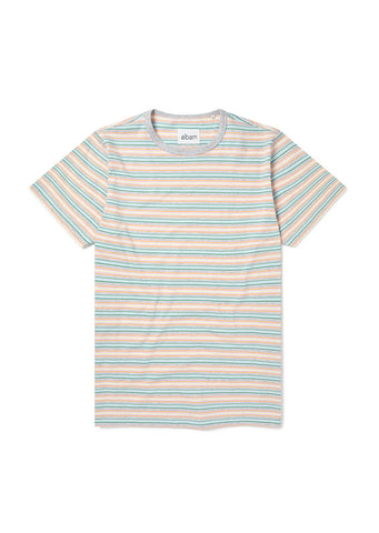 Riley Stripe T-Shirt in Grey Marl