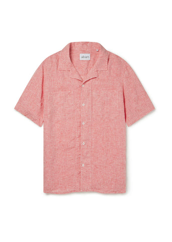 SS Revere Collar Shirt in Red