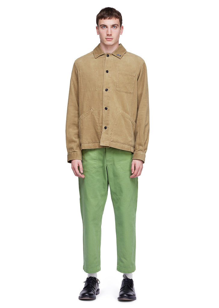 Utility Cord Overshirt in Sand