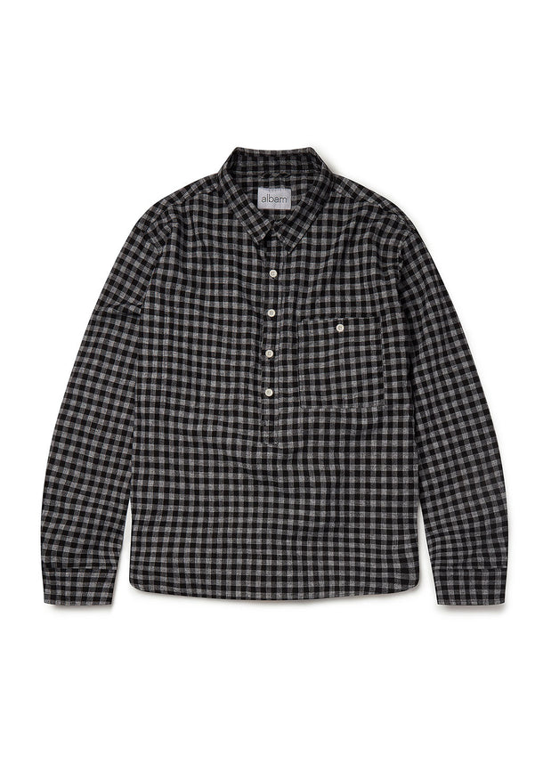 Pullover Carpenters Shirt in Black Check