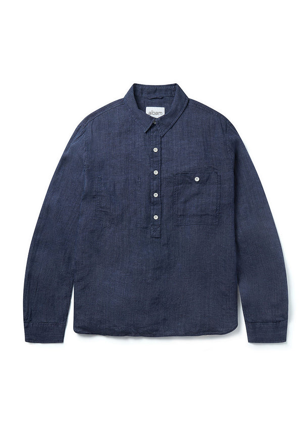 Pullover Carpenters Shirt in Navy