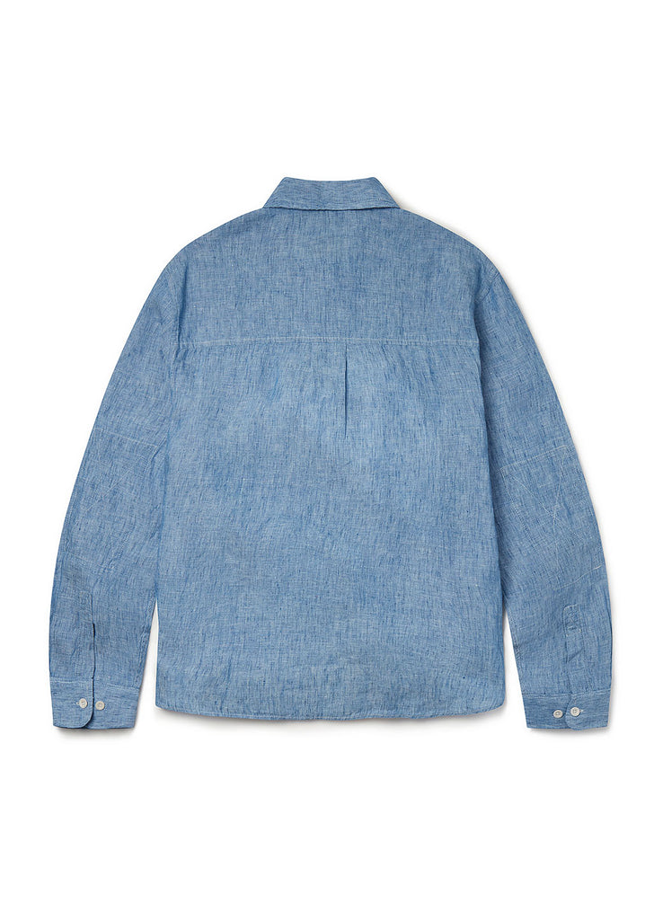 Pullover Carpenters Shirt in Light Blue