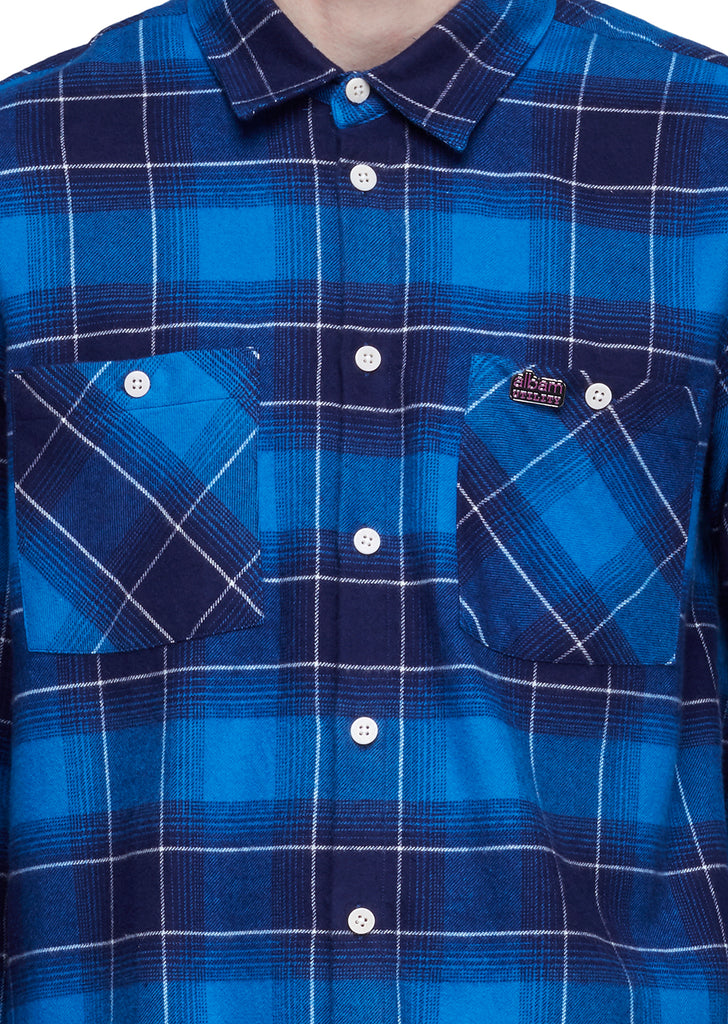 Utility Factory Check Overshirt in Bluecheck
