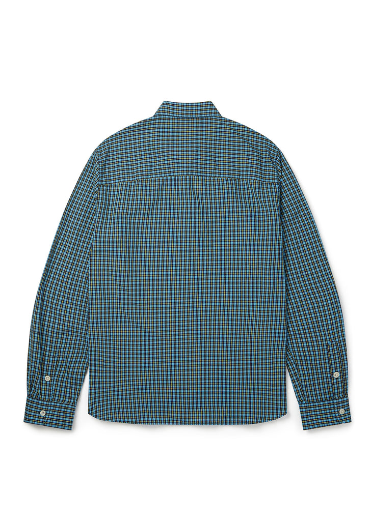 Utility Check Overshirt in Blue Check
