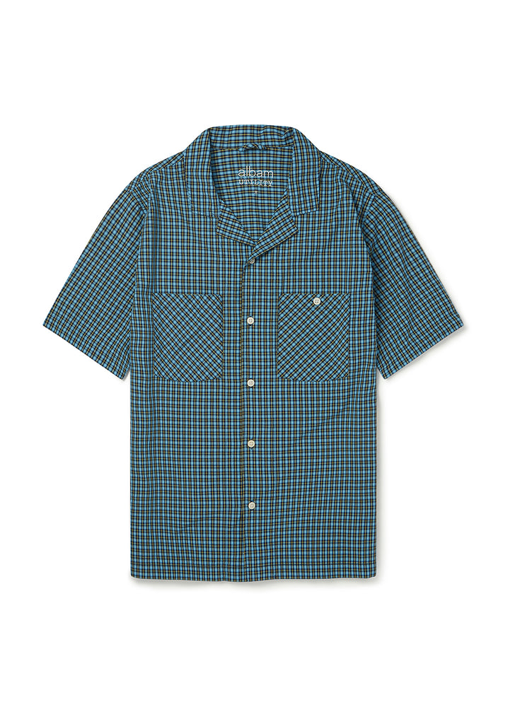 Utility Check SS Shirt in Blue Check