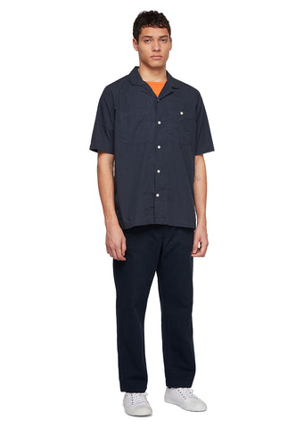 Utility Poplin SS Shirt in Navy