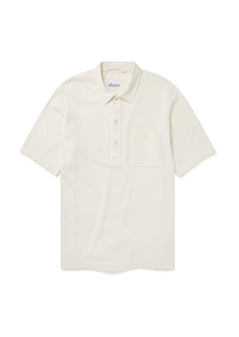 Cotton Pullover Shirt in Ecru