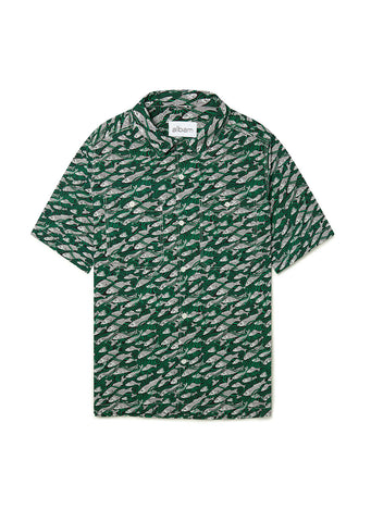 Revere Collar Shirt in Liberty Fish Green