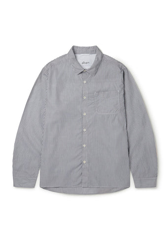 Hockney Shirt in Grey White