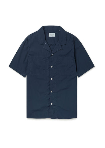 SS Revere Collar Shirt in Navy