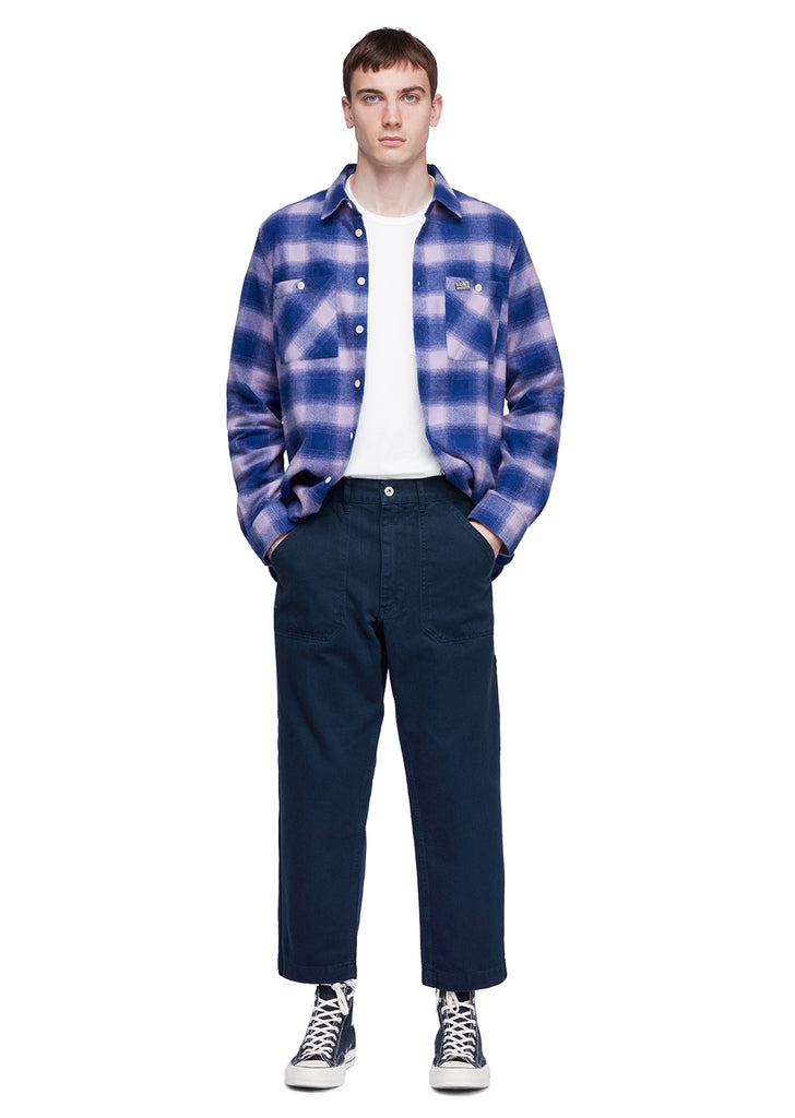 Utility Factory Check Overshirt in Purplecheck