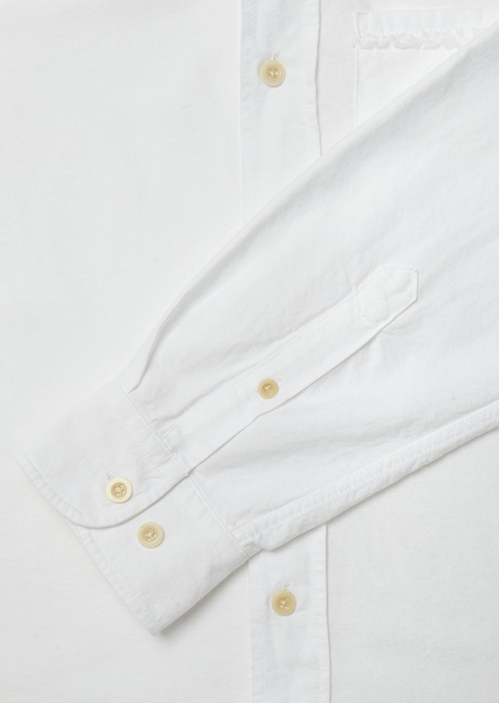 Vintage Button Down Oxford Shirt in White