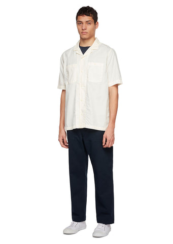 Utility Poplin SS Shirt in White
