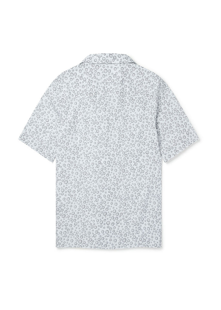 Sunny Face Havana Revere Collar Shirt in Ecru