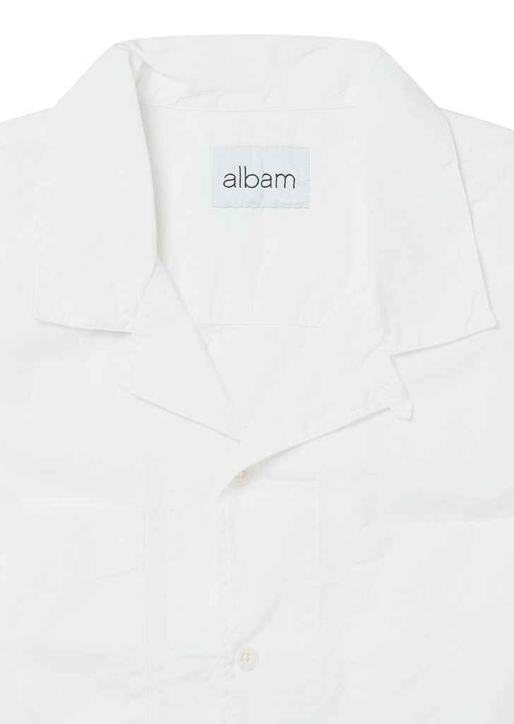 SS Revere Collar Shirt in White