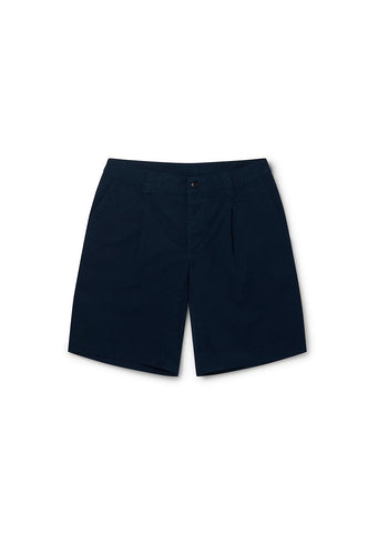 Gd Ripstop Pleated Short in Navy