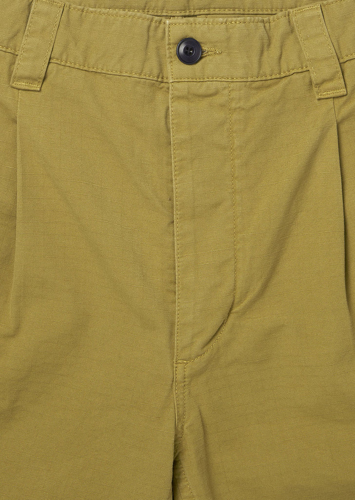 Gd Ripstop Pleated Short in Tobacco
