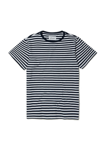 Simple Stripe T Shirt in Navy with White Stripe