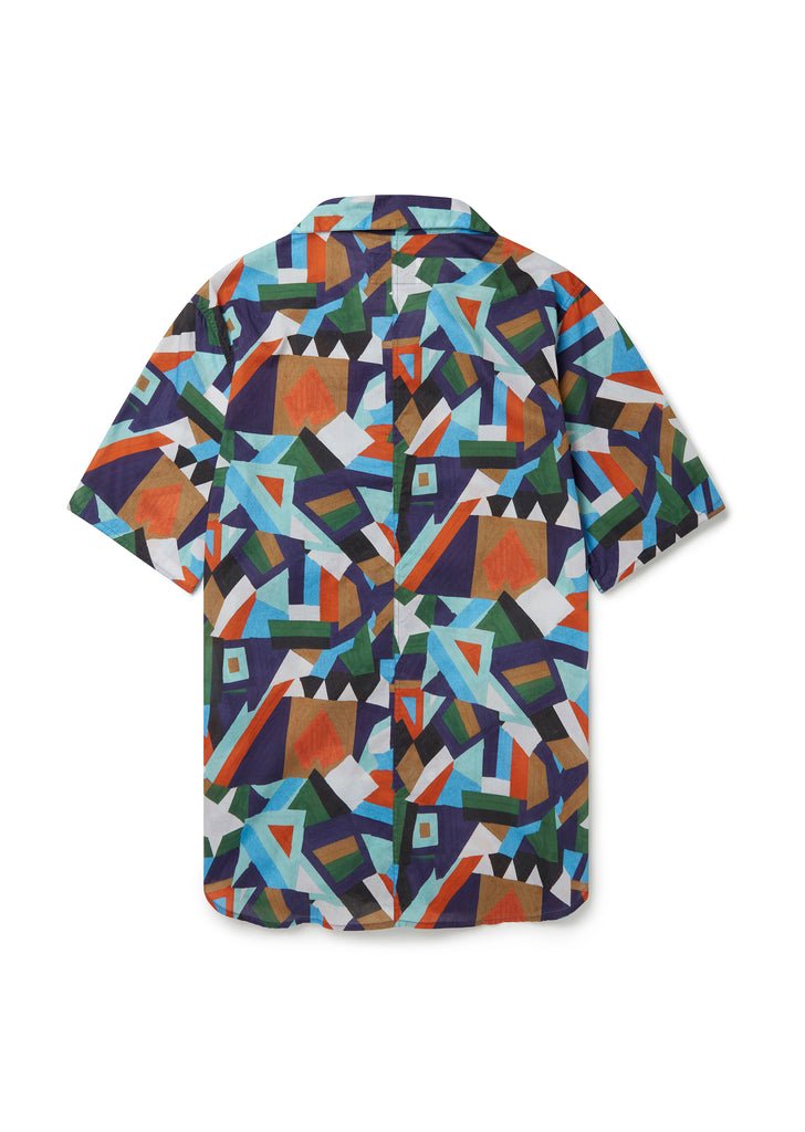 Miles Shirt in Bold Aerial Print