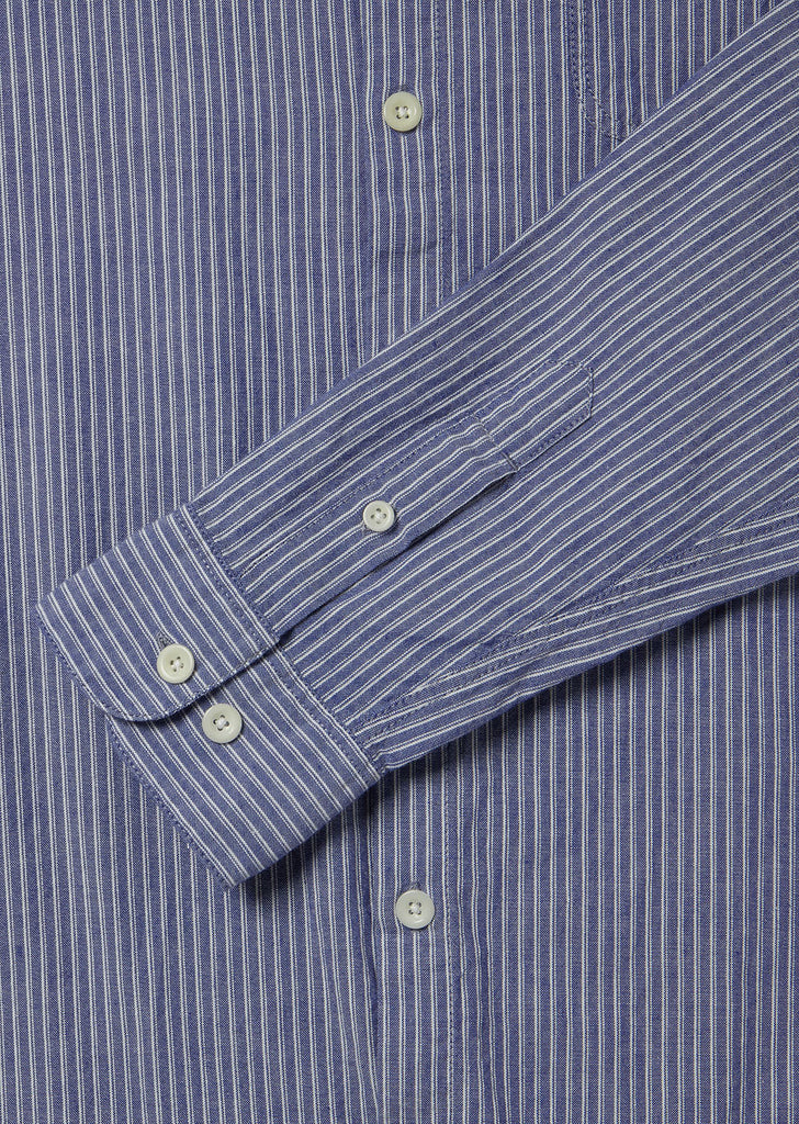 Stripe Hockney Shirt in Navy