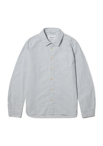 Stripe Hockney Shirt in White