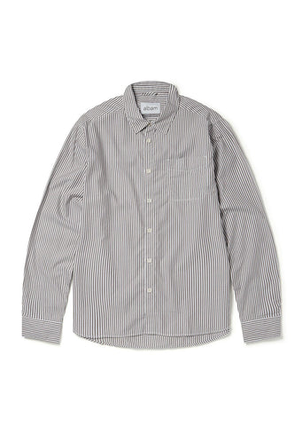 Stripe Hockney Shirt in Brown