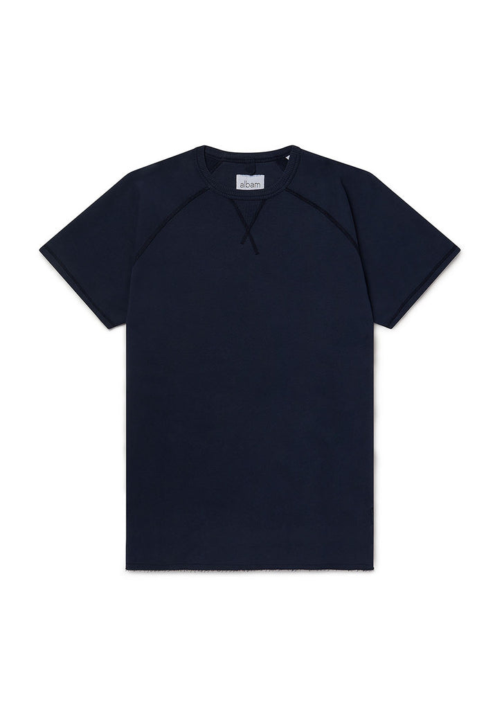 Hemp SS Sweatshirt in Navy