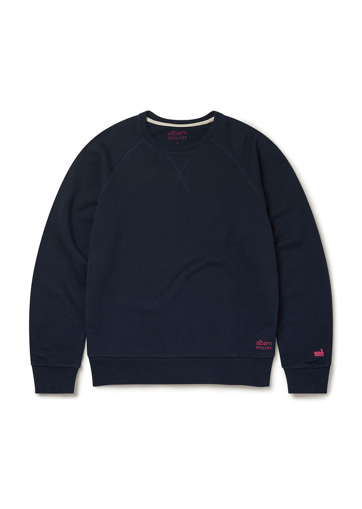 Utility Raglan Sweatshirt in Navy