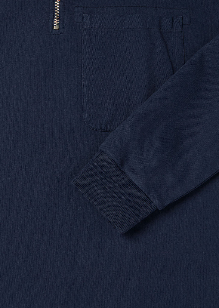 Quarter Zip Pullover in Navy