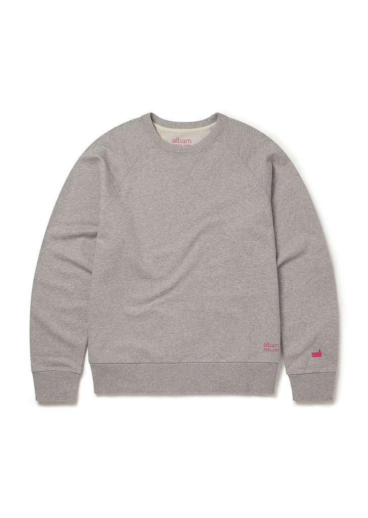 Utility Raglan Sweatshirt in Grey Marl