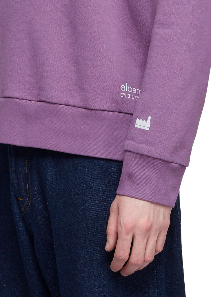 Utility Raglan Sweatshirt in Purple
