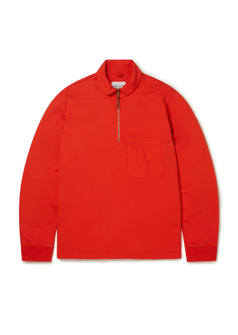 Quarter Zip Pullover in Red