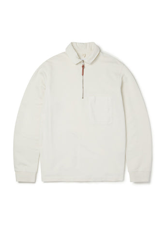 Quarter Zip Pullover in Ecru