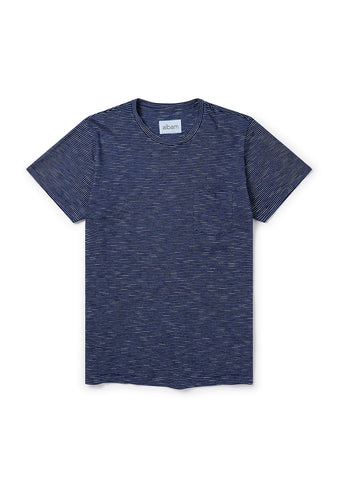 Pocket T-Shirt in indigo stripe
