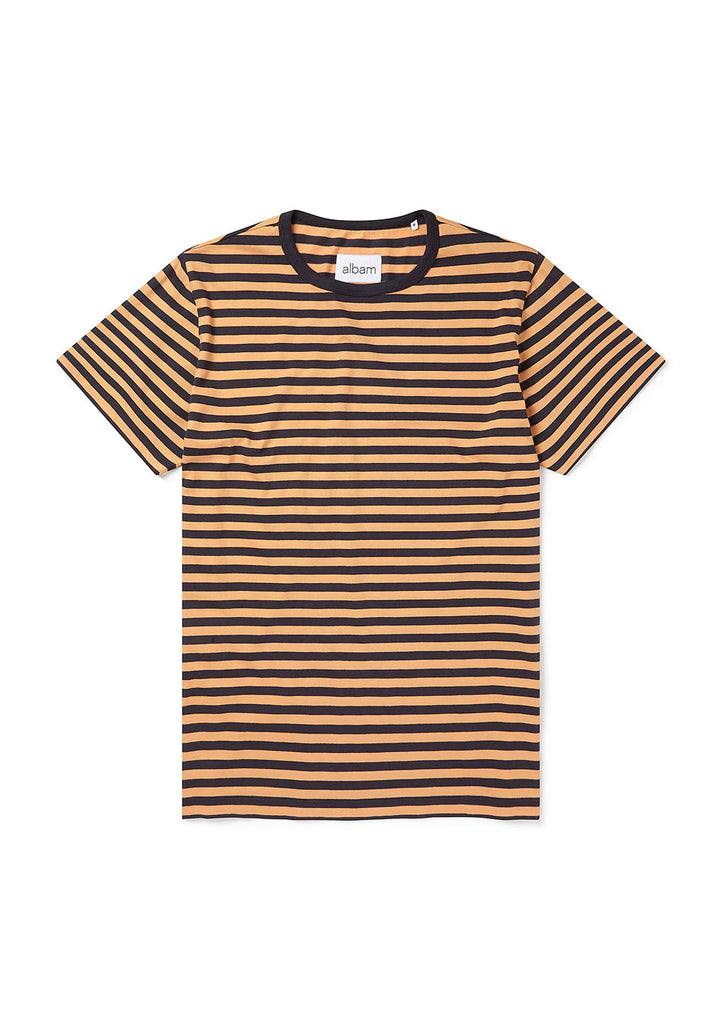 Simple Stripe T-Shirt in Ochre