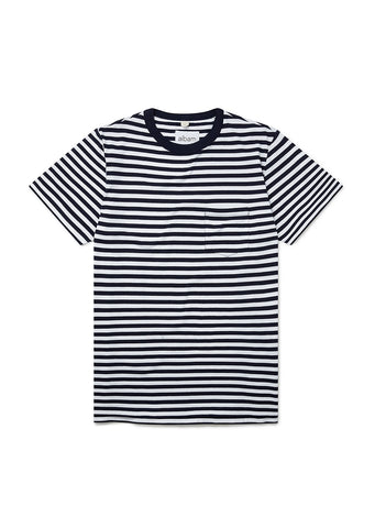 Classic Stripe SS T-Shirt in Navy/White