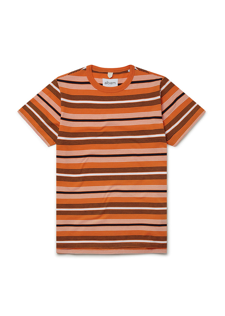 Multi Stripe T-Shirt in Orange Stripe