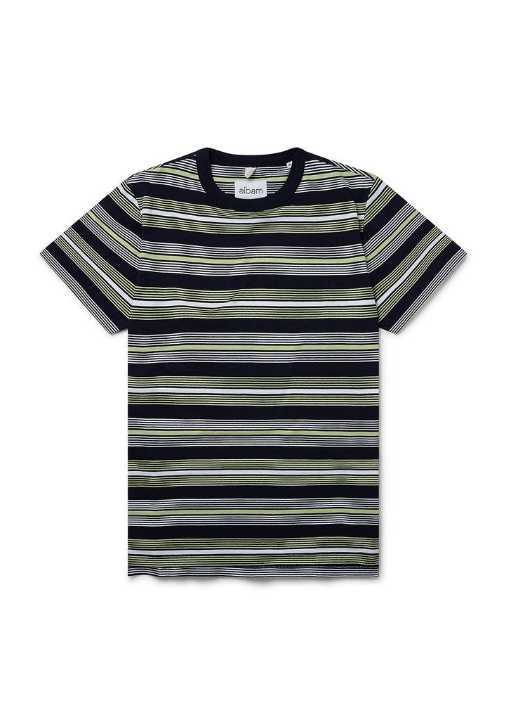 Multi Stripe T-Shirt in Tarragon Stripe