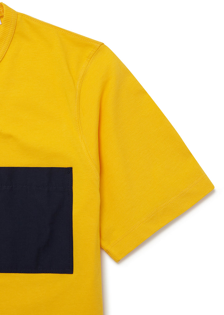 Nylon Pocket T-Shirt in Yellow