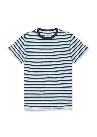 Classic Stripe SS Tee Light in Blue/Navy/White