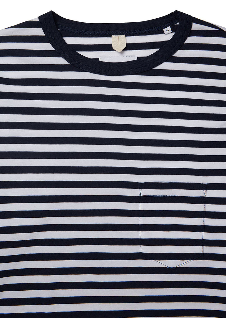 Classic Stripe LS Tee in Navy/White