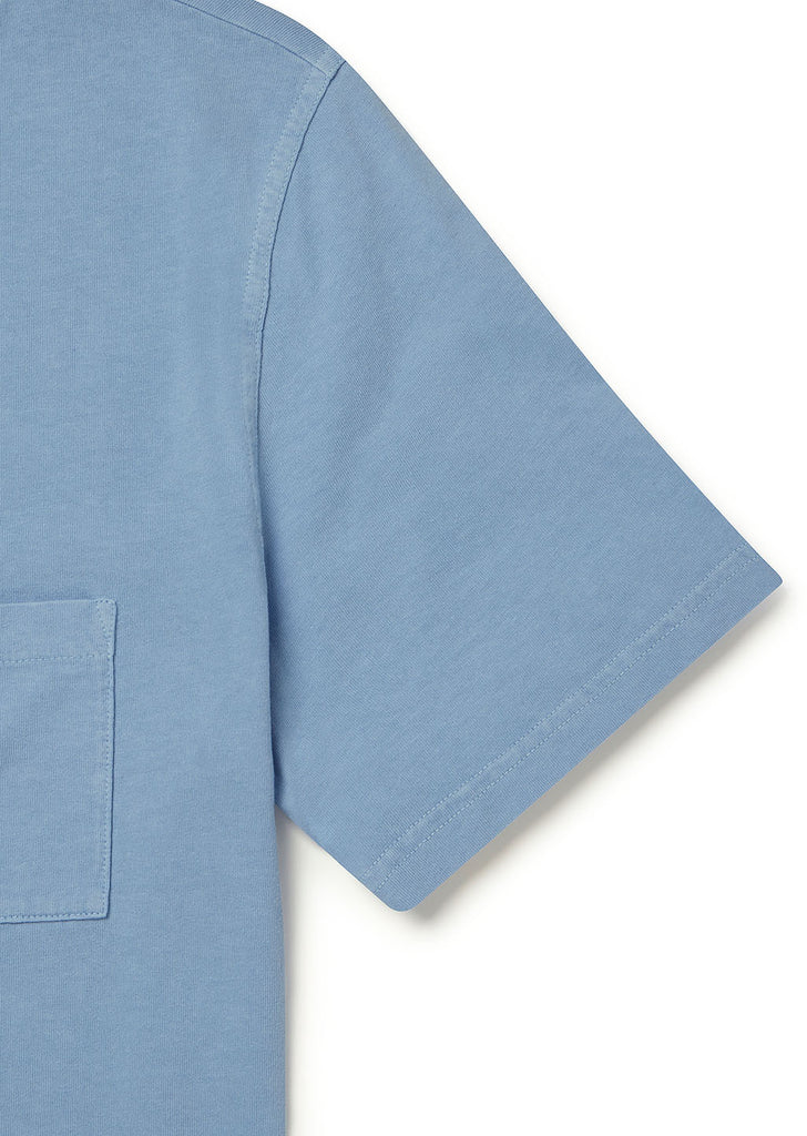 Workwear Short Sleeve Tee in Light Blue